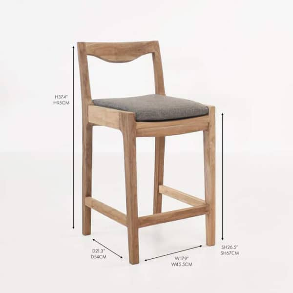 curve counter chair