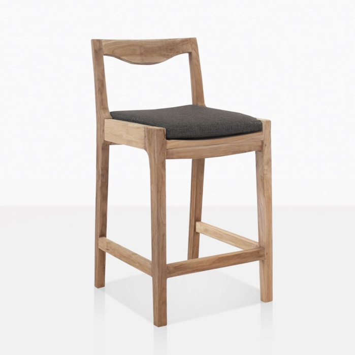 Curve Reclaimed Teak Outdoor Bar Stool