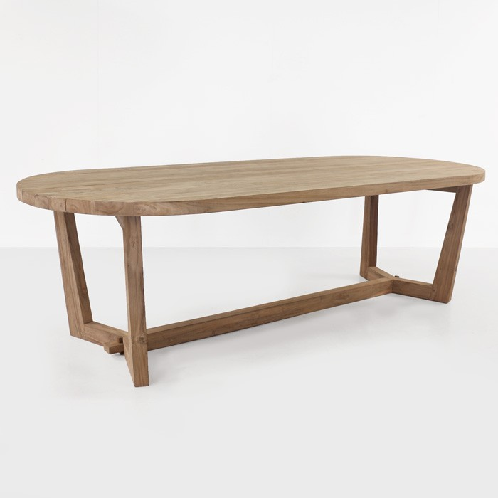 Reclaimed Teak Outdoor Patio Dining Tables Teak Warehouse - Oval teak outdoor dining table