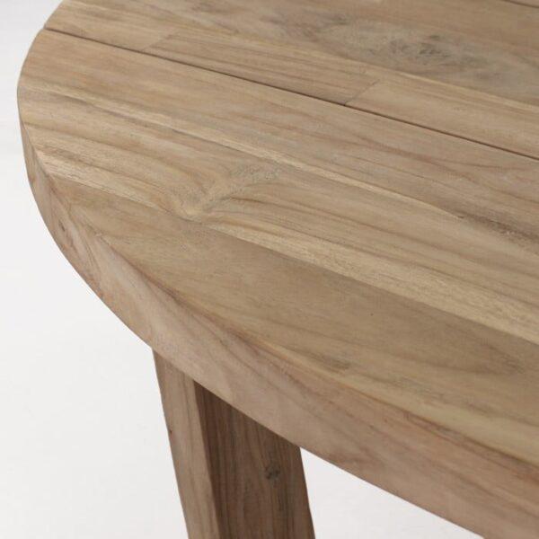 reclaimed teak oval table top