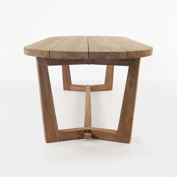 reclaimed teak wood oval dining table length