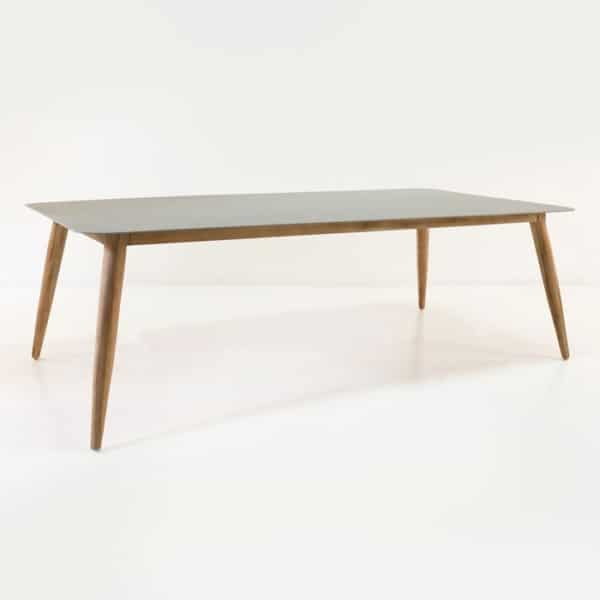 Edition Aluminum and Teak Outdoor Dining Table-0