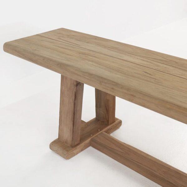 reclaimed teak bench corner