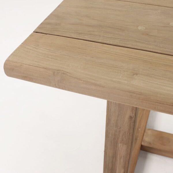 reclaimed teak table top