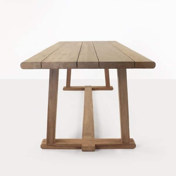 reclaimed teak dining table long view