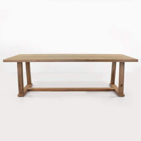 reclaimed teak dining table side