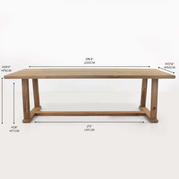 Joseph reclaimed teak dining table