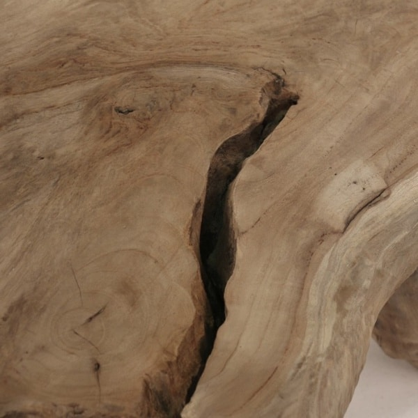 reclaimed teak table top close up