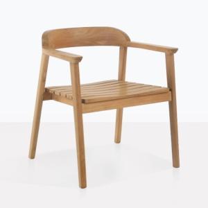 Neil Teak Fixed Dining Arm Chair