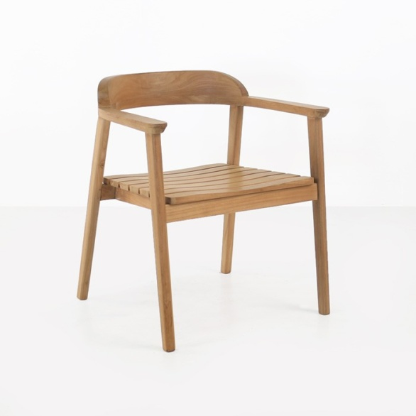 Neil Teak Outdoor Dining Chair-0