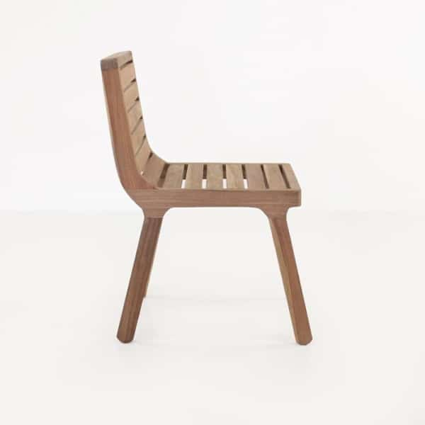 reclaimed teak dining chair side view