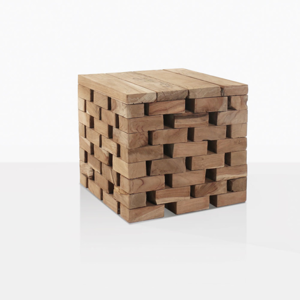 Puzzle Reclaimed Teak Side Table Small
