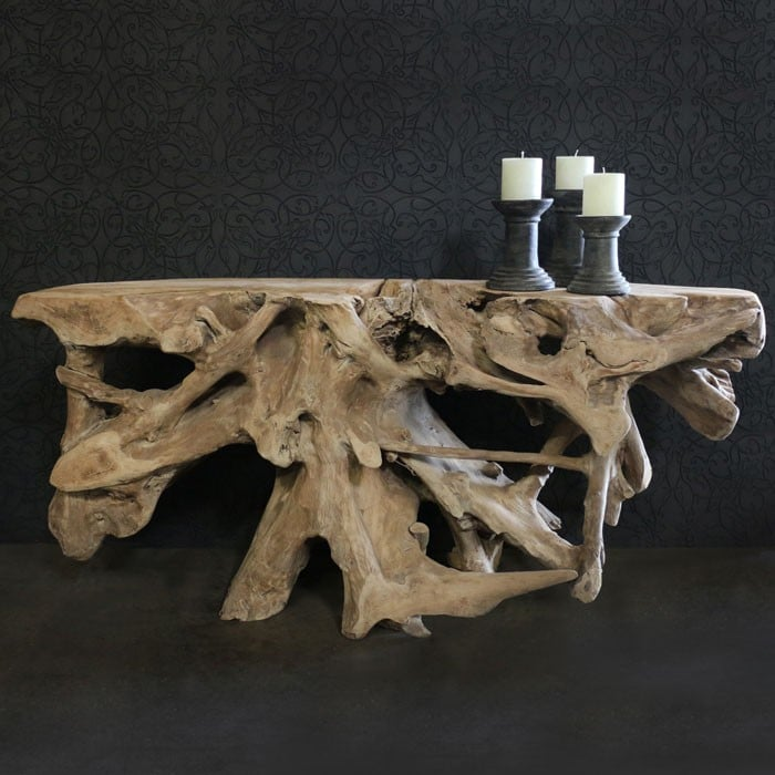 Root Console Reclaimed Teak Coffee Table Teak Warehouse