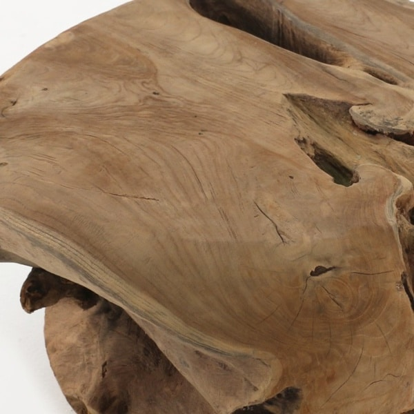 teak root table top close up