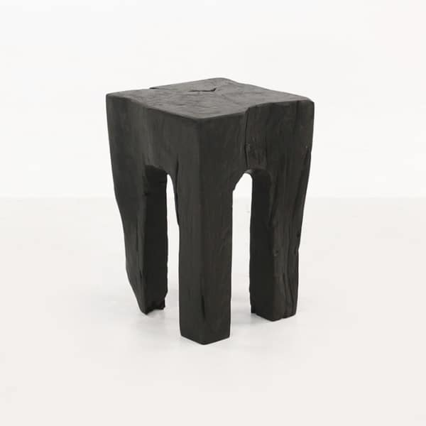 black teak root accent table