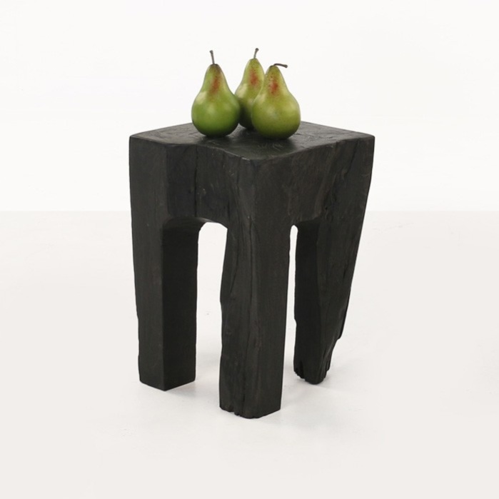 Teak Root Accent Table (Black)-0
