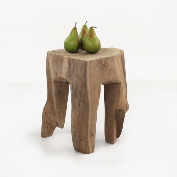Teak Root Accent Table (Square)-0