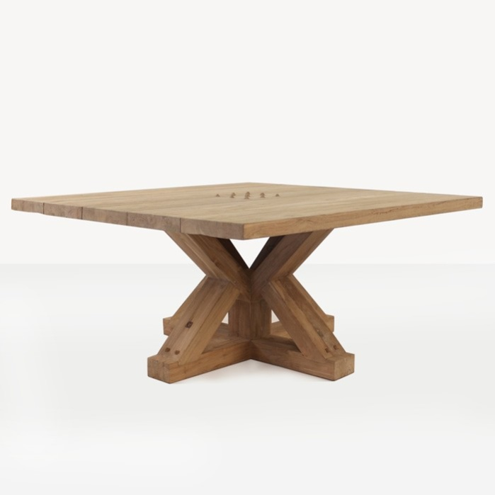 Ordinaire Alex Reclaimed Teak Square Outdoor Dining Table 0