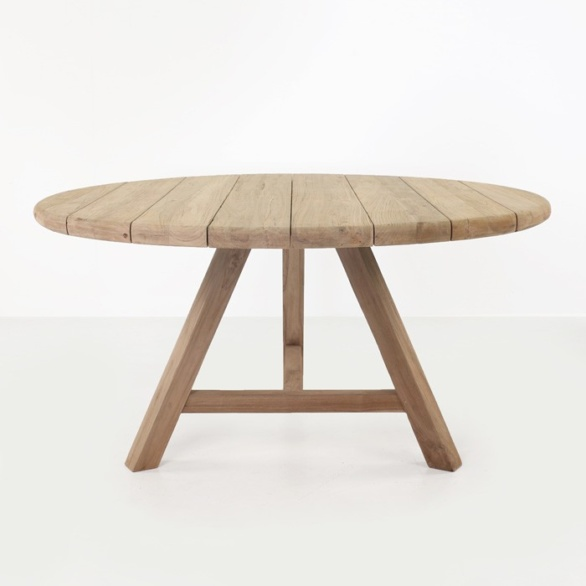 Toni Reclaimed Teak Round Outdoor Dining Table-0