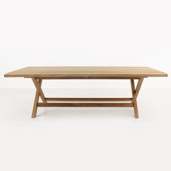 a-grade teak dining table side view
