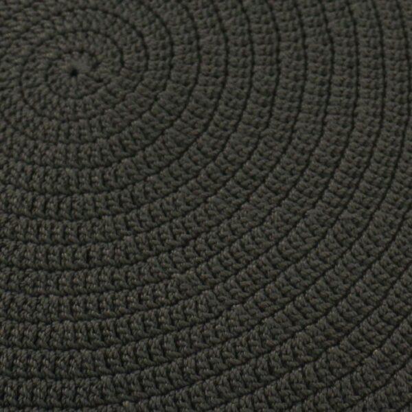 woven ottoman close up