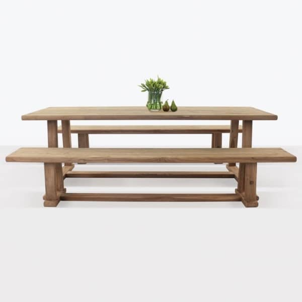 Joseph Outdoor Dining Table and Bench Set-0