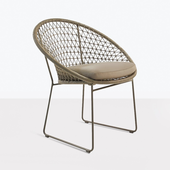 natalie rope dining chair outdoor angle