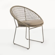 Natalie Rope Outdoor Dining Chair (Taupe)-0