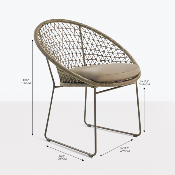 natalie rope dining chair