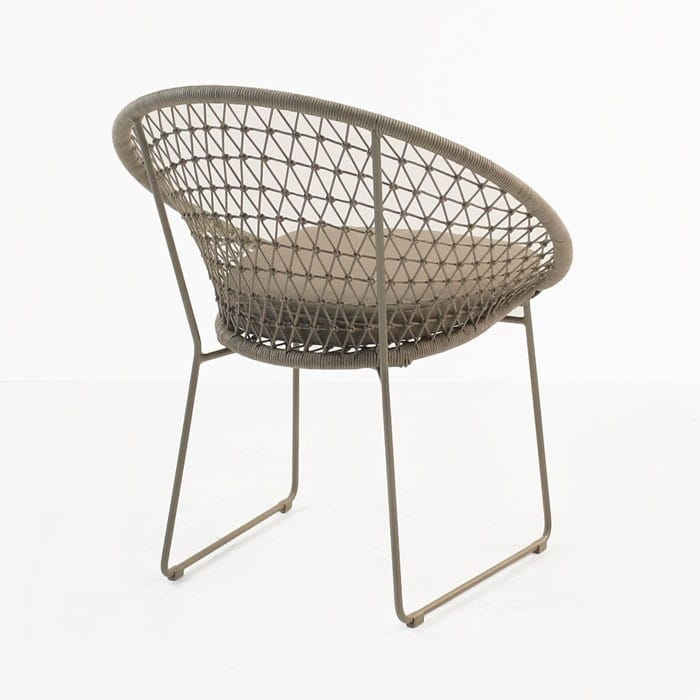 Natalie Rope Outdoor Dining Chair Taupe Teak Warehouse