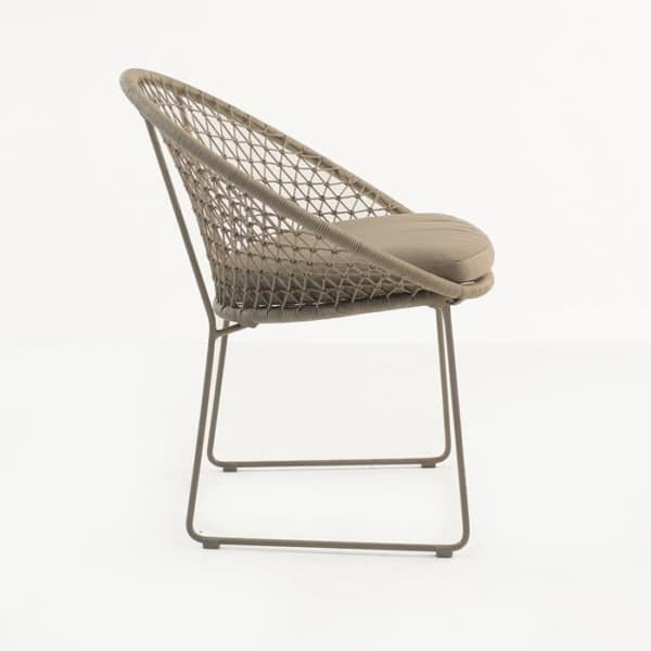 rope dining chair side view