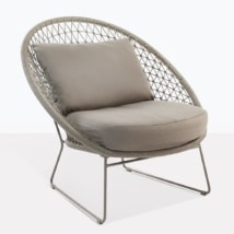 Natalie Woven Rope Relaxing Chair With 2 Cushions