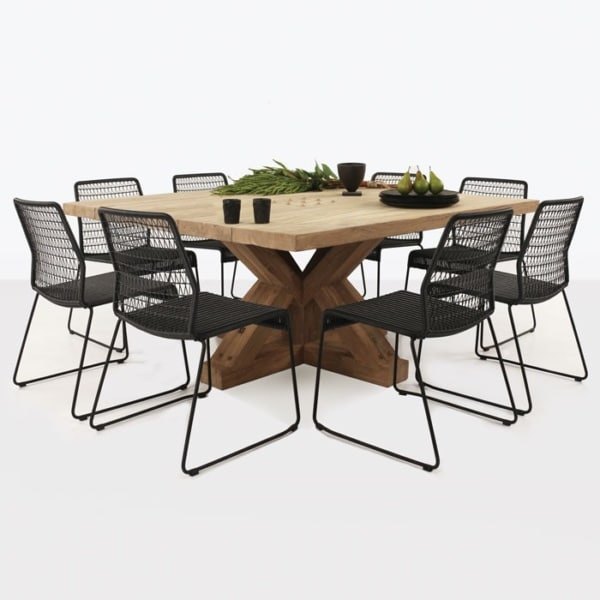 Alex Reclaimed Teak and Wicker Outdoor Dining Set-0