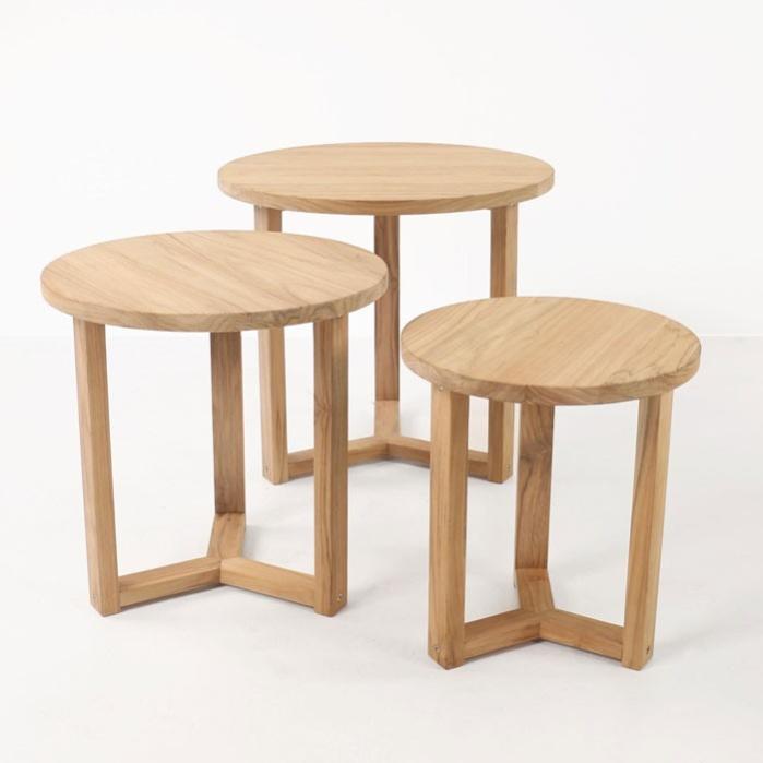 ying outdoor teak side tables patio furniture teak. Black Bedroom Furniture Sets. Home Design Ideas