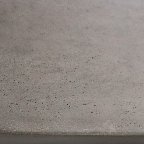 concrete outdoor furniture closeup