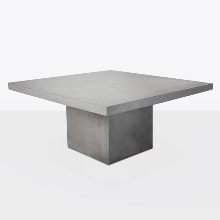 Raw Concrete Square Outdoor Dining Table