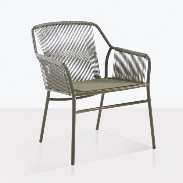 phileep dining chair outdoor angle