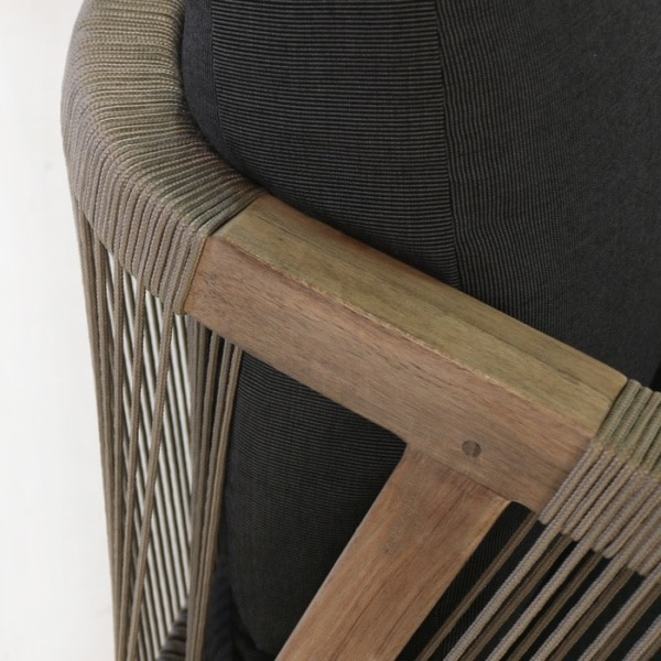 Reclaimed Teak Outdoor Relaxing Chair closeup image