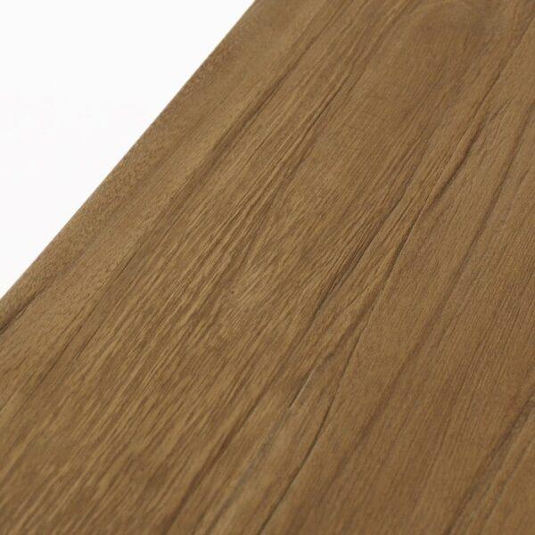 reclaimed teak bar stool grain closeup image