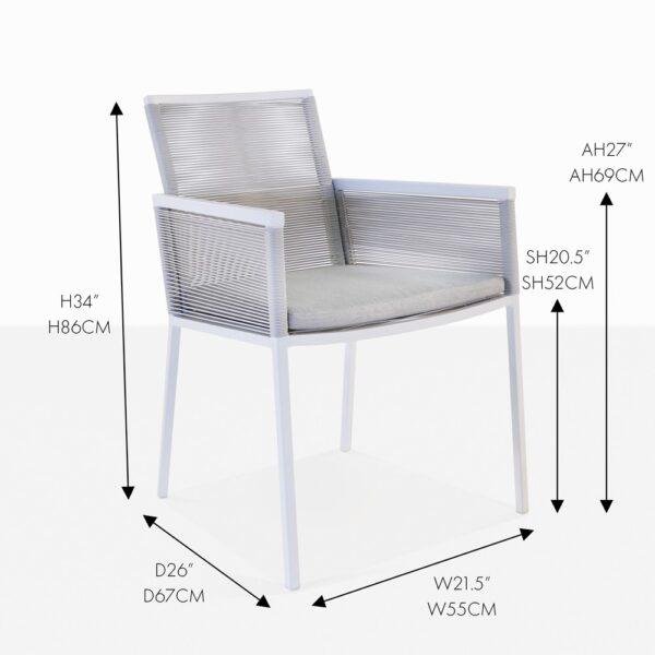 republic dining chair stone