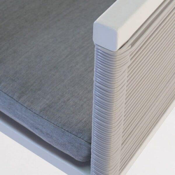 powder-coated aluminum chair closeup image
