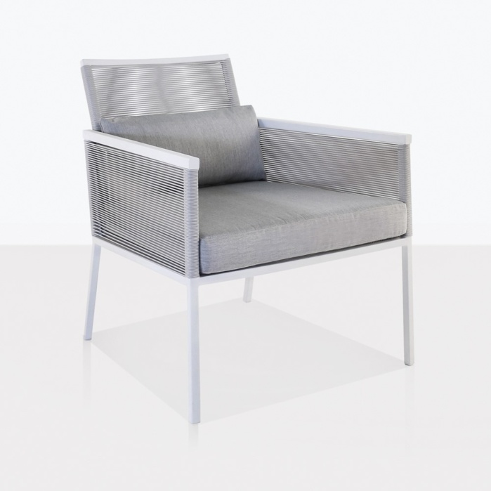 Republic White Aluminum Relaxing Chair