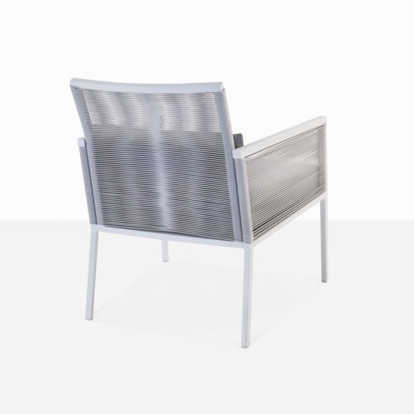 aluminum outdoor chair back view