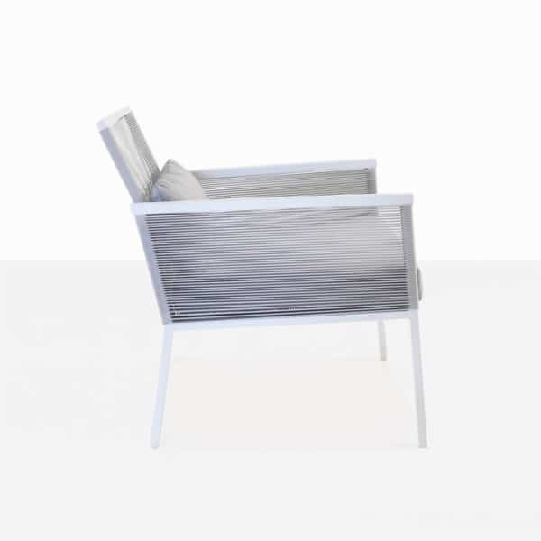 modern outdoor relaxing chair side view