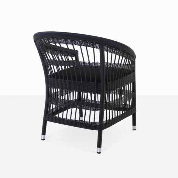 outdoor wicker dining chair in black