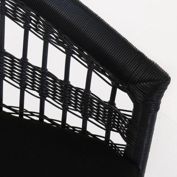 black wicker weave closeup image