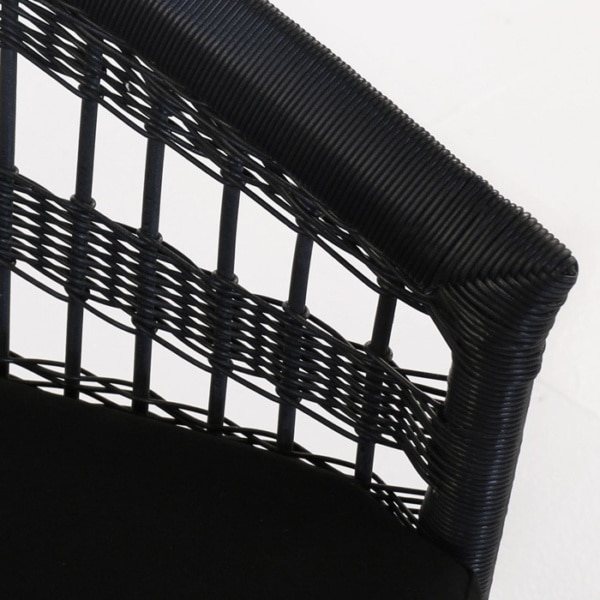 black wicker weave closeup image