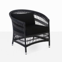 Sahara Wicker Relaxing Chair (Black)-0