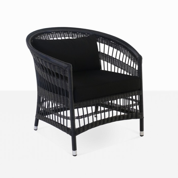 Sahara Wicker Relaxing Chair (Black)-0