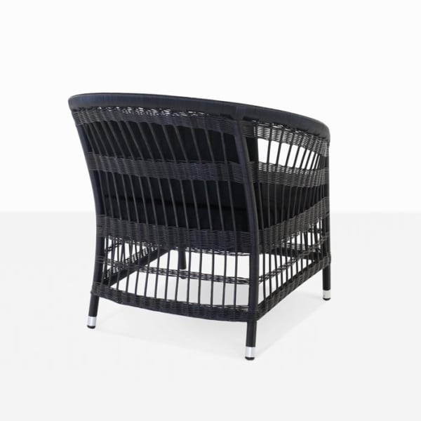 outdoor wicker chair in black